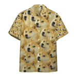Gearhumans 3D Doge Meme Custom Hawaii Shirt