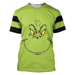 Gearhumans 3D Grinch Stripes Tshirt Hoodie Apparel
