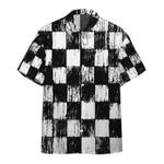 Gearhumans 3D Grunge Chess Board Custom Hawaii Shirt