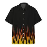 Gearhumans 3D Hot Rod Flame Stencils Custom Hawaii Shirt
