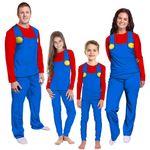 Gearhumans 3D Mario Custom Family Pajama
