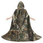 Gearhumans 3D Hunting Camouflage Deer Custom Hooded Cloak