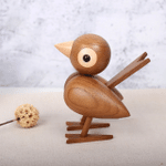 Scandinavian Style Handicraft Wooden Sparrow Bird