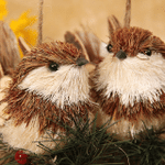Handmade Straw Crafts Tiny Bird (2-piece set)