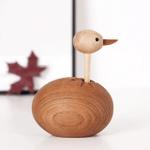 Scandinavian Style Handicraft Wooden Ostrich