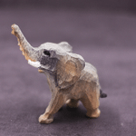 Handmade Painted Wooden Carving Elephant