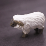 Handmade Painted Wooden Carving Tiny Sheep