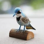 Handmade Painted Wooden Carving Colaptes Auratus Bird