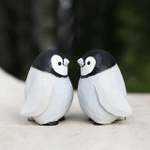 Handmade Painted Wooden Carving Penguin