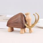 Scandinavian Style Handicraft Wooden Mammoth