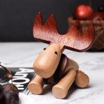 Scandinavian Style Handicraft Wooden Elk