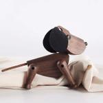 Scandinavian Style Handicraft Wooden Dog
