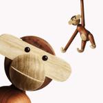 Scandinavian Style Handicraft Wooden Monkey