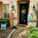 Halloween Doorplate Infectious Decoration Autumn Door Sign