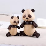 Scandinavian Style Handicraft Wooden Panda