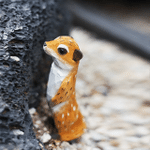 Handmade Painted Wooden Carving Mongoose