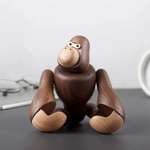 Scandinavian Style Handicraft Wooden Gorilla