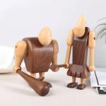 Scandinavian Style Handicraft Wooden Primitive Brothers