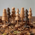 Scandinavian Style Handicraft Wooden Tree