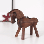 Scandinavian Style Handicraft Wooden Horse