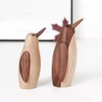 Scandinavian Style Handicraft Wooden Penguin