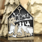 3D Natural Decoration The Birth of Jesus Wooden Ornament