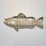 3D Natural Decoration Fish Story Wooden Ornament