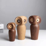 Scandinavian Style Handicraft Wooden Owl