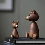 Scandinavian Style Handicraft Wooden Bear