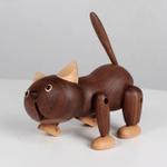 Scandinavian Style Handicraft Wooden Big Face Cat