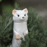 Handmade Painted Wooden Carving Ferret