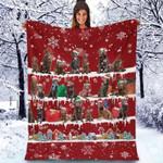 Chocolate Labrador Retriever - Christmas Blanket