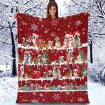 English Bulldog - Christmas Blanket