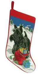 Scottish Terrier Christmas Stocking