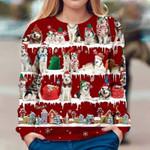 Alaskan Malamute - Snow Christmas - Premium Sweatshirt