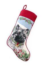 Keeshond Christmas Stocking