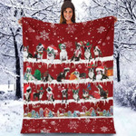 Boston Terrier - Christmas Blanket