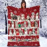 Bearded Collie - Christmas Blanket