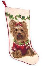 Yorkshire Terrier Christmas Stocking