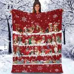 Basset Hound - Christmas Blanket
