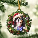 Black Tan Cavalier King Christmas Gift Acrylic Ornament