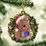 Dogue De Bordeaux Christmas Gift Acrylic Ornament