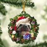 Sloth Christmas Gift Acrylic Ornament
