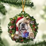 English Bulldog Christmas Gift Acrylic Ornament