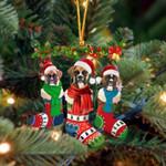 Boxer Christmas Socks Ornament