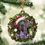 Great Dane Christmas Gift Acrylic Ornament