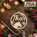 Customized Horse'S Name Christmas Ornament
