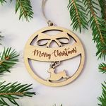Personalized Hanging Christmas Ornament With String With Custom Engraving 2