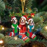 Beagle Christmas Socks Ornament