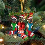 German Shepherd Christmas Socks Ornament